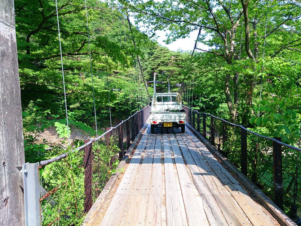 鷹の巣キャンプ場 吊り橋