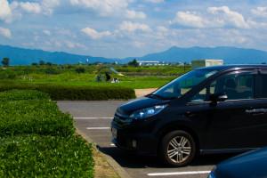 阿賀野川フラワーライン-駐車場から